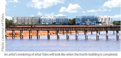 An artist's rendering of what Tides will look like when the fourth building is completed